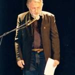 Jean Alambre ne quitte pas la scène de ce  Festival sans témoigner son soutien aux intermittants du spectacle
