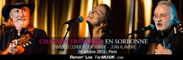 Chansons Françaises en Sorbonne – 29 octobre 2013